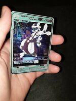 Cyber Mewtwo and Cyber Mew Pokemon GX  Tag Team Custom Card In Holo