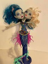 Monster High Doll,two headed,the great Scarrier Reef Peri,&Pearl Serpentine,Used