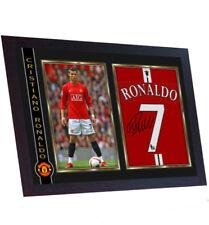 90dfcd3ee58 Cristiano Ronaldo man utd juventus signed photo print autograph poster  Framed
