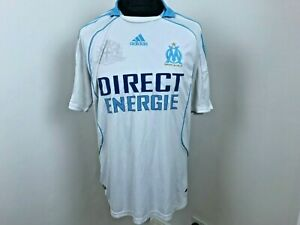 Olympique Marseille Home football shirt 2008 - 2009 soccer jersey size Large
