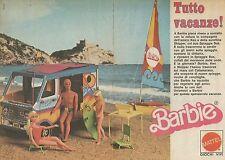 X9502 BARBIE - Tutto vacanze! - Spiaggia Bus - Pubblicità 1976 - Advertising