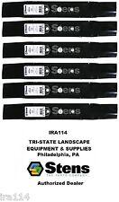"Stens 330-619 Set Of 6 Hi Lift Blade 48"" Deck Fits John Deere Gx20250, Gy20568"