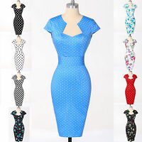 Vintage Dress 1950s Vintage Style Work Wiggle Pinup Pencil Housewife Prom Dress