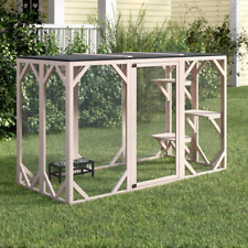 Wooden Outdoor Playpen, Great for cats easy assembly