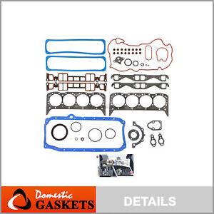 Fits 96-02 Chevrolet GMC Cadillac 5.7L V8 Vortec OHV Full Gasket Set VIN R