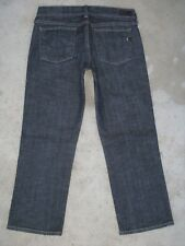 Citizens of Humanity Jeans Kelly 063 Straight Leg Low Waist Crops Dark Sz 29