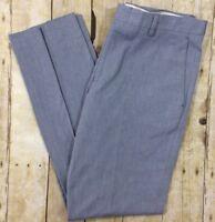 NWT J. Crew Men's Ludlow Slim Suit Pant in Cotton 32 X 32 Blue-Grey 100% Cotton