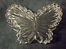 """Vintage Butterfly Shaped Glass Trinket Box """" BEAUTIFUL COLLECTIBLE ITEM """""""