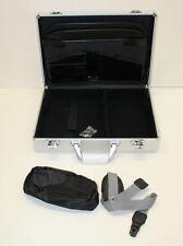 "NEW Hard Shell 17"" Laptop Case Silver Aluminium Locking Briefcase 18""x13.5""x4"""