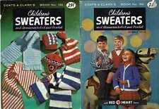 KNIT Crochet PATTERNs SWEATERS & ACCESSORIES for CHILDREN'S Sz 2 to 12