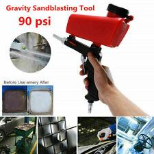Portable Media Spot Sand Blaster Gun Hand Held Air Gravity Feed Sandblaster