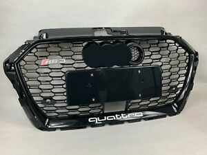 For Audi A3 S3 RS3 Front Black Bumper Grille Honeycomb Mesh Grill 2017 2020 ACC