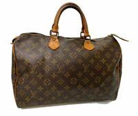 Auth LOUIS VUITTON Monogram Speedy 35 Hand Bag M41524 LV A-1441