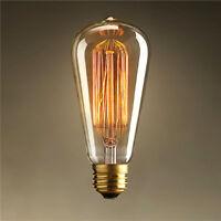 ST64 40W 110V/240V E27 Warm Light Edison Halogen Bulbs Ceiling Light Fixtures