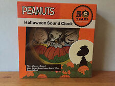 NEW! PEANUTS Halloween 50th Anniversary Great Pumpkin Sound Clock Snoopy Exclusi