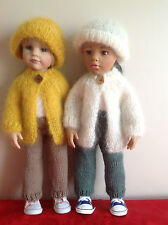 "Dolls Fashion clothes knitting  pattern to fit 18""- 19"" doll.  Mohair Jacket set"