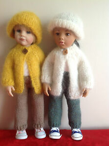 """Dolls clothes knitting  pattern to fit 18""""- 19"""" doll.  Mohair Jacket set. KNM70"""