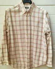 Camicia vintage da uomo OVS a quadretti in tela di cotone taglia L (41/42)