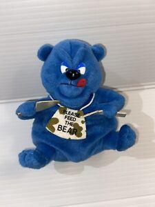 Idea Factory Meanies Series 2 Plush Mystery Meanie Chubby the Bear VERY RARE