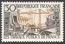 Francia 1957 Puente/Dam/Grúa/edificios/Energy/Electricidad/construcción 1 V n33117