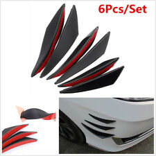 6x Universal Car Auto Front Bumper Lip Splitter Body Fins Spoiler Moulding Refit