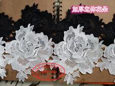 1Yard, 13cm Embroidery Lace Edge Trim Ribbon Wedding Applique Sewing Craft FL25