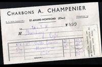 """SAINT-AMAND-MONTROND (18) CHARBON """"A. CHAMPENIER"""" en 1945"""