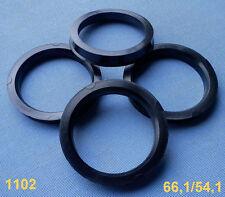 (1102)  4 Stück  Zentrierringe 66,1 / 54,1 mm schwarz für Alufelgen