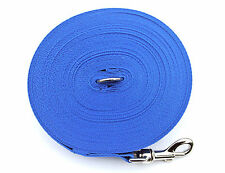 100ft Dog Training Lead,Obedience,Recall,Leash,Large 25mm Webbing Royal Blue