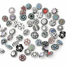 wholesales lots 10 mixed 12MM mini metal snaps Buttons Fit Snap Jewelry 0k