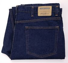 Eddie Bauer Jeans Tall 40x38 Blue Raw Denim Long Mens Size Jean Relaxed Fit Sz