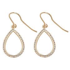 Pendientes de joyería con gemas ganchos de oro amarillo