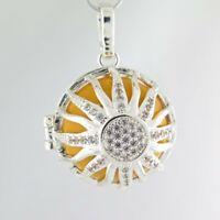 Sonne Klangkugel Anhänger zum Öffnen - Amulett Medaillon Glücksbringer Babybauch
