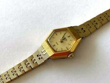 Vintage Citizen 2030 069099 SMW Quartz Seven Yellow Gold Tone Ladies Watch Runs