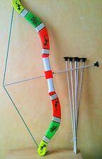 Arc  +5 fleches  taille 75 cm (jeux jouet enfant) (artisan createur)