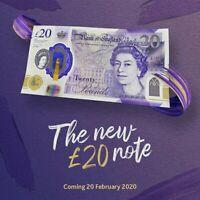 Twenty Pound £20 New Collectable British Polymer Note English Artist JMW Turner