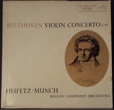 RCA LM 1992 ED 2 US PRESS VINYL BEETHOVEN - VIOLIN CONCERTO HEIFETZ MUNCH BOSTON