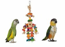 NEW 25 CM TRIXIE NATURAL PUPPET MAN PARROT CAGE TOY BAMBOO SISAL AND ROPE 58988