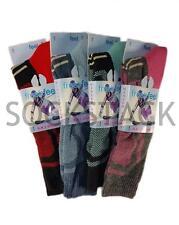 3 Pairs Of Ladies Long Ski Socks, Thermal Heat Ski+ Pro Warm Winter Socks UK 4-7
