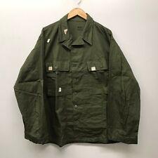 NOS US Army WWII HBT Cotton 13 Star Button Shirt 44R J-33