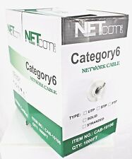 CAT6 1000FT UTP CABLE SOLID  GRAY CAT6 LAN  NETWORK ETHERNET BULK WIRE RJ45