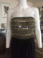 NWOT Aidan Mattox Beautiful Beaded Strapless Evening Dress Size 6 Org $285