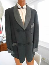 Vintage 1920's Men's Wool Smoking Jacket Evening Blazer Cocktail Cuffs Sz. 42 L