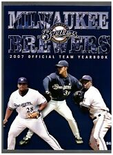 2007 Milwaukee Brewers Official Yearbook Prince Fielder Bill Hall Chris Capuano
