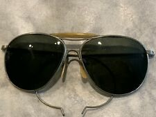 Vintage Wwii Ful-Vue American Optical Ao Pilot Aviator Sunglasses Used With Age