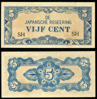 NETHERLAND INDIES 5 CENTS JAPANESE OCCUPATION P 120 b SY LETTER UNC