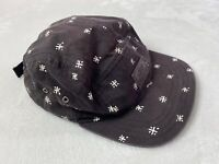 Vans Off The Wall Strapback Hat Black White Leather Logo