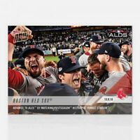 Boston Red Sox Advance ALCS Postseason History Yankee Stadium Topps Now Card 874