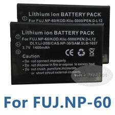 2x Rechargeable 3.7v Li-ion Battery Pack For Usance NP-60 NP60 Model US-N New