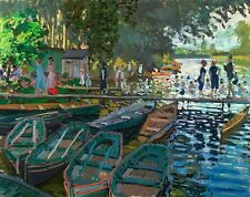 Monet 1869, Bather at La Grenouillere, Fade Resistant HD Art Print or Canvas